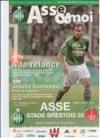 FOOTBALL PROGRAMME 2011 ASSE ST ETIENNE STADE BRESTOIS 29 ETAT NEUF - Otros