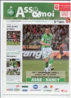FOOTBALL PROGRAMME 2009 ASSE ST ETIENNE NANCY ETAT NEUF - Otros
