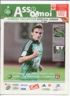 FOOTBALL PROGRAMME 2009 ASSE ST ETIENNE OL OLYMPIQUE LYONNAIS DERBY ETAT NEUF - Otros
