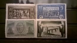 FRANCOBOLLI STAMPS ROMANIA ROUMANIE 1933 MLH NUOVI SERIE COMPLETA TURNU SEVERIN CITY LINGUELLA - 1918-1948 Ferdinand, Charles II & Michael