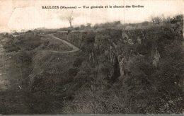 53 SAULGES  VUE GENERALE ET LE CHEMIN DES GROTTES - France