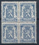 BELGIE - OBP Nr 426 - Blok Van 4 - Klein Staatswapen - MNH** - 1935-1949 Piccolo Sigillo Dello Stato