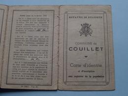 Carte Identité COUILLET N° 49117 (?) Piette Fernand - Né Mont-sur-Marchienne 1901 ( Voir Photo ) - Old Paper