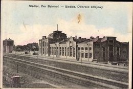 Cp Siedlce Siedlec Polen, Bahnhof, Gleisseite, Dworzec Kolejowy - Eisenbahnen