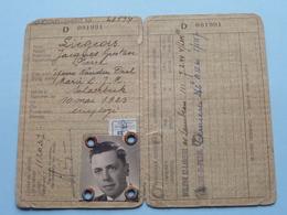 Carte Identité WOLUWE-SAINT-LAMBERT N° 28514 (?) Liégeois Jacques - Né Schaerbeek 10 Mai 1923 ( Voir Photo ) - Old Paper