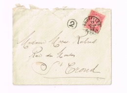 Lettre De Bruxelles à Saint-Trond. - 1893-1900 Fine Barbe