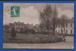 CHATEAUROUX   Le Square Du Palais De Justice   Animées  écrite En 1909 - Chateauroux