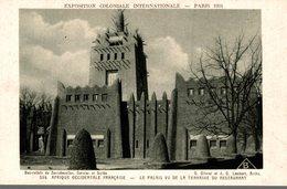 EXPOSITION COLONIALE INTERNATIONALE PARIS 1931 AFRIQUE OCCIDENTALE FRANCAISE LE PALAIS VU DE LA TERRASSE DU RESTAURANT - Tentoonstellingen
