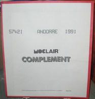 MOC - JEU ANDORRE FRANCAIS MOCLAIR 1991 (Avec Pochettes) - Pré-Imprimés