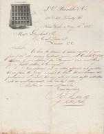 Etats Unis Facture Lettre Illustrée 12/5/1871 RUNKLE & Co NEW YORK - Etats-Unis