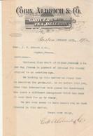 Etats Unis 1/2 Facture Lettre Illustrée 12/1/1907 COBB ALDRICH Grocers & Tea Dealers BOSTON - Thé - Etats-Unis