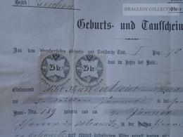 ZA172.8 Old Document -  POLAND -  Althammer (Kieferstädtel) Trachy Oberschlesien  --Teschen - Joseph  BISKUP - 1869 - Naissance & Baptême