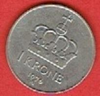 NORWAY # 1 KRONER FROM 1976 - Norvège