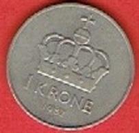 NORWAY # 1 KRONER FROM 1982 - Norvège