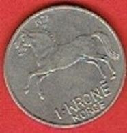 NORWAY # 1 KRONER FROM 1972 - Norvège