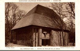 EXPOSITION COLONIALE INTERNATIONALE PARIS 1931 CAMEROUN ENTREE DU PAVILLON DE LA CHASSE - Exposiciones