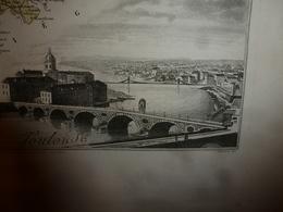 1880 HAUTE GARONNE (Toulouse,Muret,St-Gaudens,etc) Carte Géographique-Descriptive:grav. Taille Douce-Migeon,géographe. - Geographische Kaarten