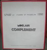 MOC - JEU SAINT-PIERRE Et MIQUELON MOCLAIR 1992 (Avec Pochettes) - Pré-Imprimés