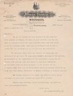 Etats Unis Facture Lettre Illustrée Chat Noir 29/6/1911 The ULLMAN EINSTEIN Co Whiskies CLEVELAND - Black Cat Whisky - United States