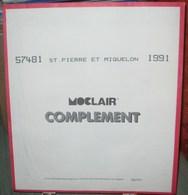 MOC - JEU SAINT-PIERRE Et MIQUELON MOCLAIR 1991 (Avec Pochettes) - Pré-Imprimés