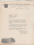 Etats Unis Facture Lettre Illustrée 1/4/1937 LUYTIES Pharmacal Company ST LOUIS - Etats-Unis