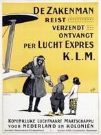 @@@ MAGNET - De Zakenman Reist Verzendt Ontvangt Per Lucht Expres K.L.M. - Advertising
