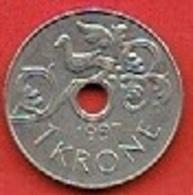 NORWAY # 1 KRONER FROM 1997 - Norvège