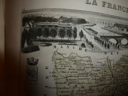 1880 MAYENNE (Laval,Evron,Loiron,Château-Gontier,etc)Carte Géographique-Descriptive:grav. Taille Douce-Migeon,géographe. - Geographische Kaarten