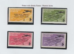 1° Volo Roma Buenos Aires - 1934 Cat: Sassone  56/59 - 1900-44 Victor Emmanuel III.