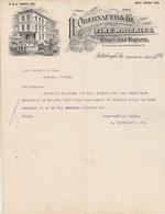 Etats Unis Facture Lettre Illustrée 25/9/1907 H OBERNAUER Distiller Fine Whiskies  PITTSBURGH - Whisky Vin Liqueurs - Etats-Unis