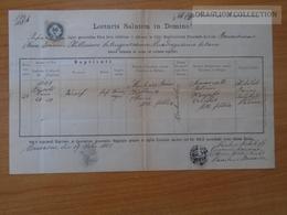 ZA172.12 Old Document - Slovakia  - Bosác  Bošáca - Machács Makács  1885 - Birth & Baptism