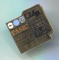 Tasic Television HI FI Video - Philips Blaupunkt,  Pin, Badge, Abzeichen - Medios De Comunicación