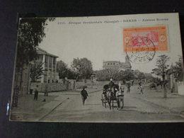 TIMBRE DU SENEGAL COLONIE FRANCAISE  SUR CARTE POSTALE - Mayotte (1892-2011)
