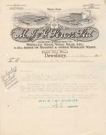 Etats Unis Facture Lettre Illustrée 26/3/1934 J G STROSS Woolen Rags, Wool Hair Etc DEWSBURY  - Laine Velours - United States