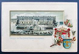 Deutschland / Germany: Herreninsel, Kgl. Herrenchiemsee (geprägte Litho-Ansichtskarte) - Ohne Zuordnung