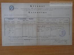 ZA172.14 Old Document - Slovakia  -   Tótkeresztúr  Krisevczi  Križevci - 1886 - Theresia MAJSA - (Csonka)   LANG - Naissance & Baptême