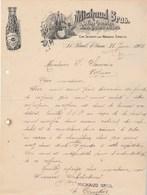 Etats Unis Facture Lettre Illustrée Olives Raisins 1902 MICHAUD Bros Groceries Cigars ST PAUL Minn épicerie Cigare - United States