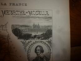 1880 MEURTHE & MOSELLE (Nancy,Briey,LunévilleToul,etc)Carte Géographique-Descriptive:grav.taille Douce-Migeon,géographe. - Cartes Géographiques