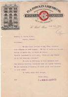 Etats Unis Facture Lettre Illustrée 3/6/1908 P J BOWLIN LIQUOR Co Wines & Liquors  ST PAUL Minn - Etats-Unis