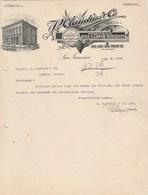 Etats Unis Facture Lettre Illustrée 6/1/1906 CLAUDIUS Co Wine Liquor SAN FRANCISCO - Etats-Unis
