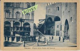 Marche-ancona-fabriano Angelo Della Piazza Del Comune Veduta Piazza Fontana Persone Albergo Ristorante Animata (f.picc.) - Italia
