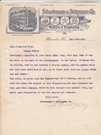 Etats Unis Facture Lettre Illustrée 25/5/1905 SCHUCKMANN & SELIGMANN Wines Liquors Kentucky Whiskies MILWAUKEE Wis - United States