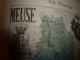 1880 MEUSE (Bar-le-Duc,Commercy,Montmédy,Verdun,etc) Carte Géographique-Descriptive:grav.taille Douce-Migeon,géographe. - Cartes Géographiques