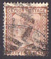 Ceylan - 1872 - Y&T N° 57 Oblitéré - Ceylon (...-1947)