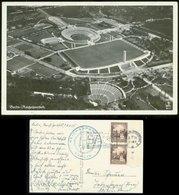 WW II Foto Postkarte : Berlin Reichsportfeld ,gebraucht Mit Werbestempel SA Reichswettkämpfe Berlin 1938 - Deutschland