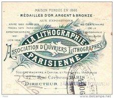 LITHOGRAPHIE PARISIENNE  Association D'Ouvriers Lithographes     Belle Illustration - Lettres De Change