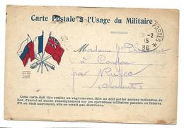 Correspondance Militaire Trésor Et Postes 86 Cachet RUFFEC  2 Scans ...G - Oorlog 1914-18