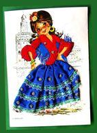 Applique De Danse Flamenco Espagne Tissu Ethnique Robe Brodée Costume Chorégraphie - Danza