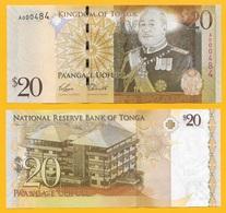 Tonga 20 Pa'anga P-41(1) 2009 - Prefix A - Low Serial Number (3 Digits) UNC - Tonga