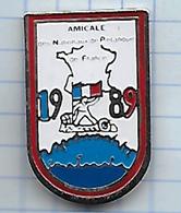 Pin's Pins / THEME Sport ֎  Pétanque  ֎ 1989 Amicale Des Nationaux  De Pétanque De FRANCE ֎ BOULE Boulistes - Pétanque